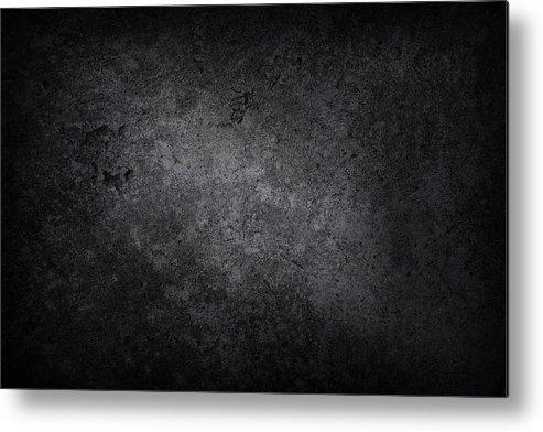 Material Metal Print featuring the photograph XXXL dark concrete by Sbayram