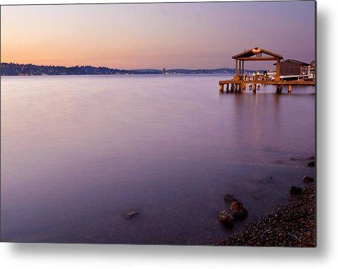 Twilight Metal Print featuring the photograph Lake Washington Twilight by Manju Shekhar