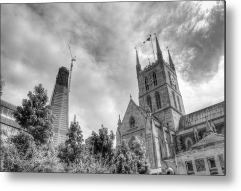 Shard Metal Print featuring the photograph New and Old by Chris Day