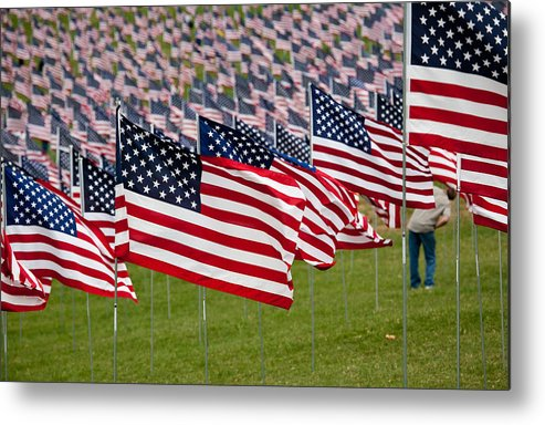 911 Metal Print featuring the photograph 911 Memorial 1 by Mark Braun