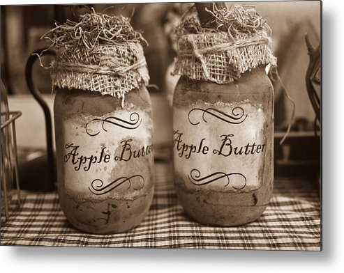 Apple Metal Print featuring the photograph Apple Butter in Sepia by Douglas Barnett