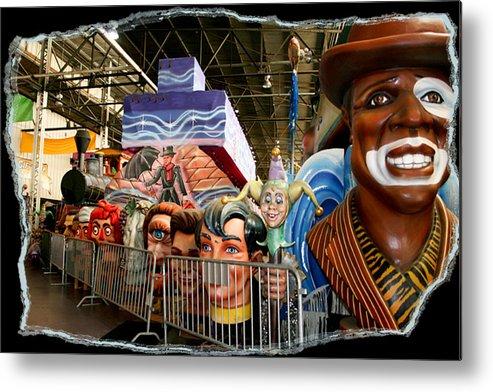 Mardi Gras World Metal Print featuring the photograph Barricade Heads by Linda Kish