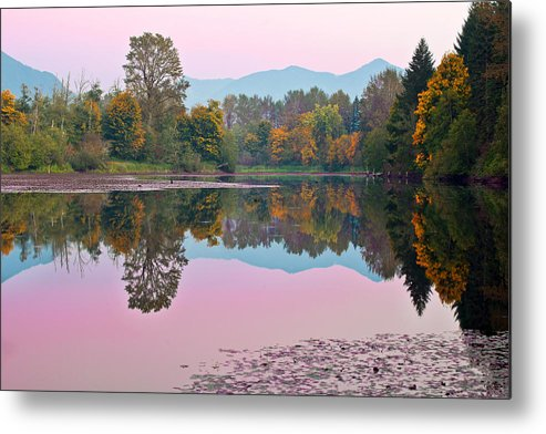 Snoqualmie Metal Print featuring the photograph Dusk Reflections by Manju Shekhar
