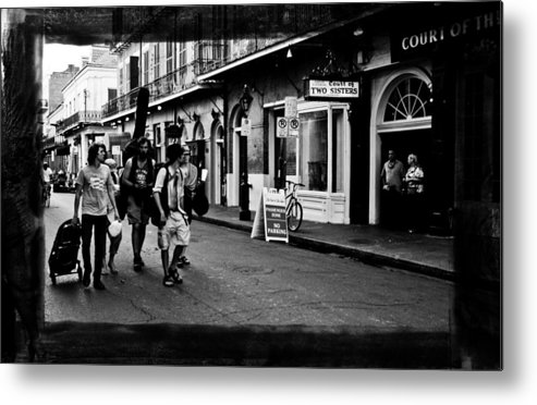 New Orleans Metal Print featuring the photograph French Quarter Commute by Linda Kish