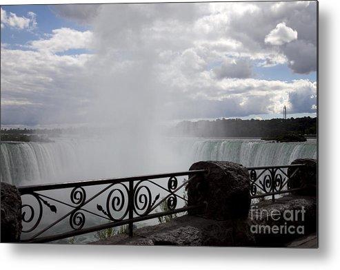 Niagara Metal Print featuring the photograph Gate to Fall by Amanda Barcon