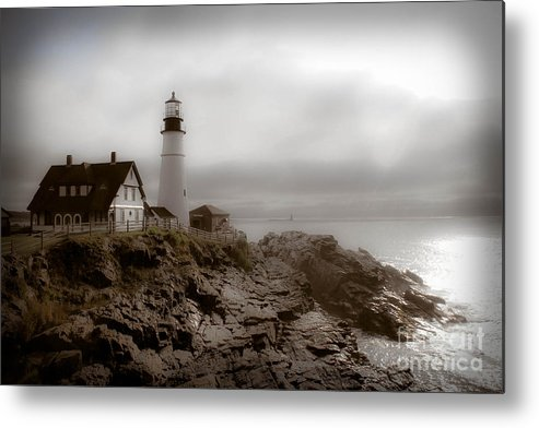 Lighthouse Metal Print featuring the photograph Ghost Light by Brenda Giasson