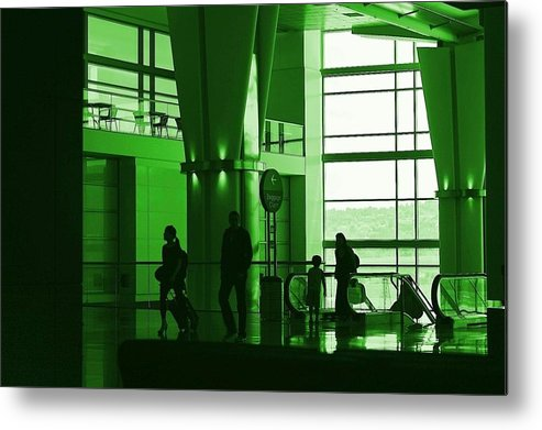 Green Metal Print featuring the photograph Green Airport by Ron Morales