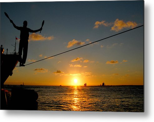 Key West Metal Print featuring the photograph Key West Sunset Performance by John Banegas