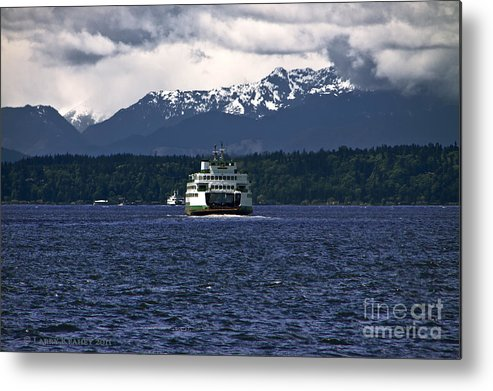 Seattle Metal Print featuring the photograph MV Kaleetan Ferry by Larry Keahey