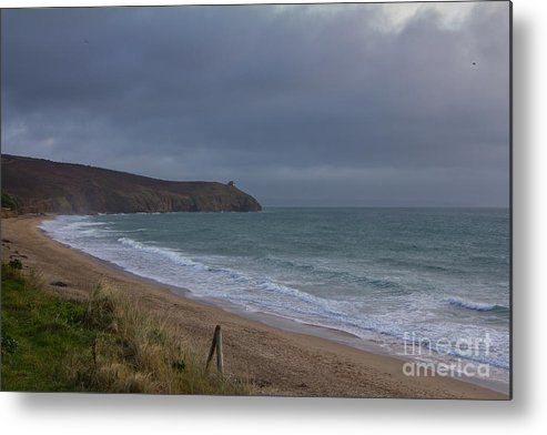 Praa Sands Cornwall Metal Print featuring the photograph Praa Sands by Brian Roscorla
