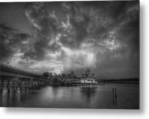 Smithfield Metal Print featuring the photograph Sunset on Smithfield Station by Williams-Cairns Photography LLC