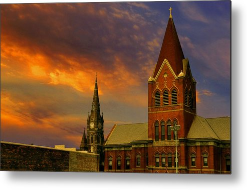 Church Metal Print featuring the photograph Towers Of Faith by Brian Fisher