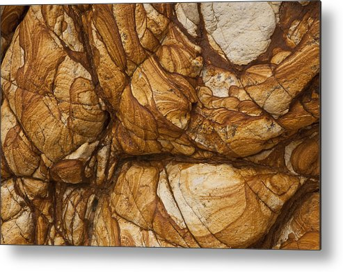 Hhh Metal Print featuring the photograph Volcanic Rock, Onawe, Banks Peninsula by Colin Monteath