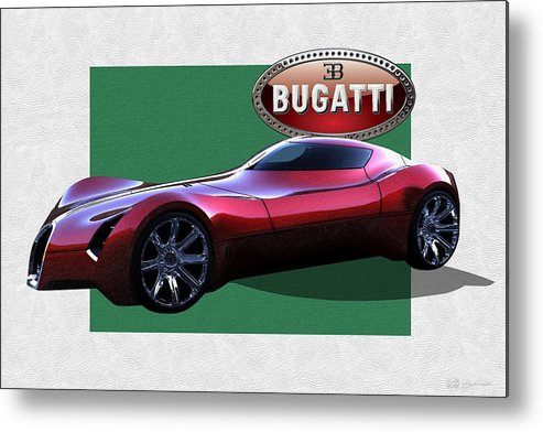 �bugatti� By Serge Averbukh Metal Print featuring the photograph 2025 Bugatti Aerolithe Concept with 3 D Badge by Serge Averbukh
