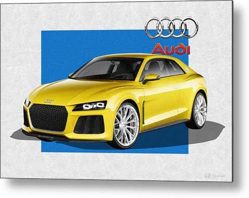 �audi� Collection By Serge Averbukh Metal Print featuring the photograph Audi Sport Quattro Concept with 3 D Badge by Serge Averbukh