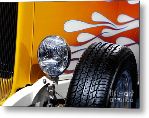 Hot Rod Metal Print featuring the photograph Hot Rod Ford Hi-boy Coupe 1932 by Maxim Images Prints