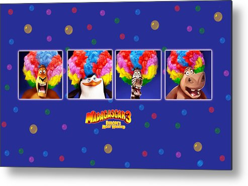Madagascar 3 Europe's Most Wanted Metal Print featuring the digital art Madagascar 3 Europe's Most Wanted by Maye Loeser