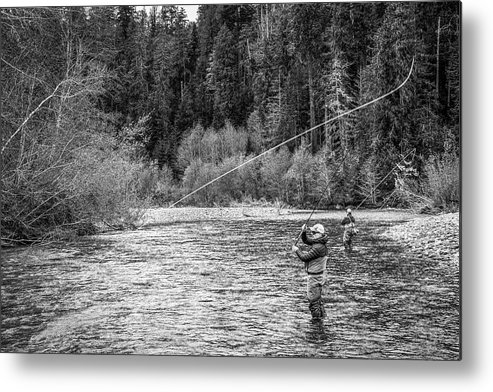 Flyfishing Metal Print featuring the photograph On the River by Jason Brooks