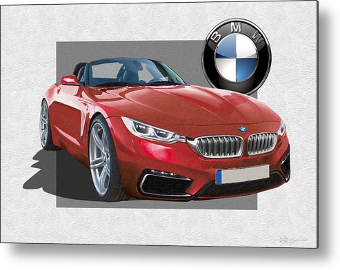 �bmw� Collection By Serge Averbukh Metal Print featuring the photograph Red 2018 B M W Z 5 with 3 D Badge by Serge Averbukh
