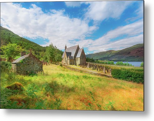 Ballichulish Church Metal Print featuring the photograph The Old Highland Church by Roy McPeak