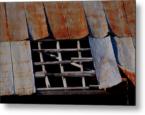 Vintage Metal Print featuring the photograph Vintage Skylight by Karen Wagner