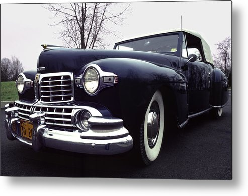 Lincoln Metal Print featuring the photograph 1947 Classic Lincoln Ragtop on Moody Day by Anna Lisa Yoder