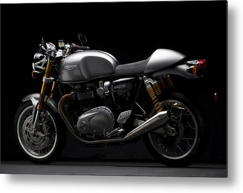 Triumph Metal Print featuring the photograph 2016 Triumph Thruxton R by Keith May