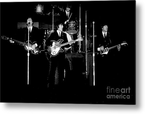 Beatles Metal Print featuring the photograph Beatles In Concert 1964 by Larry Mulvehill