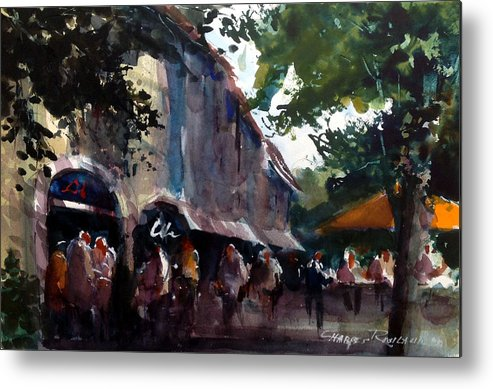 France Metal Print featuring the painting French Market by Charles Rowland