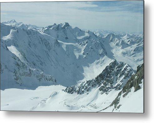 Pitztal Glacier Metal Print featuring the photograph Pitztal Glacier by Olaf Christian