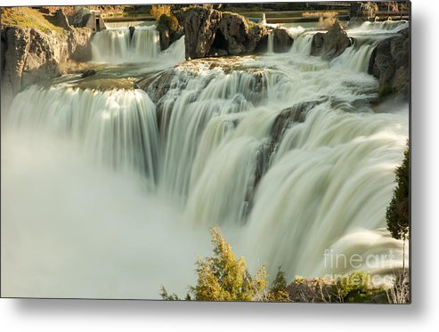 Waterfall Metal Print featuring the photograph Shoshone Falls by Dennis Hammer