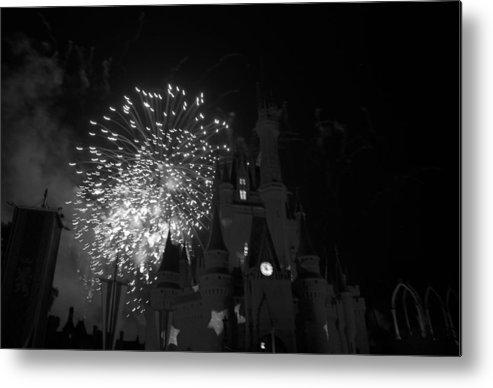 Walt Disney World Metal Print featuring the photograph Cinderella Castle by Rob Hans