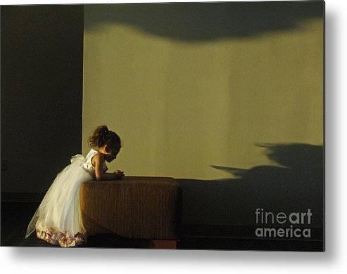 Child Metal Print featuring the photograph A Child's Prayer by Gib Martinez