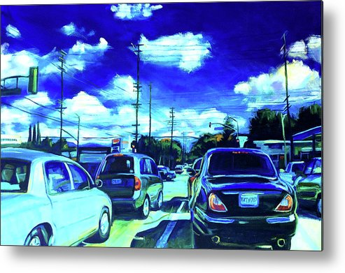 Neighborhood Metal Print featuring the painting A Good Day by Bonnie Lambert