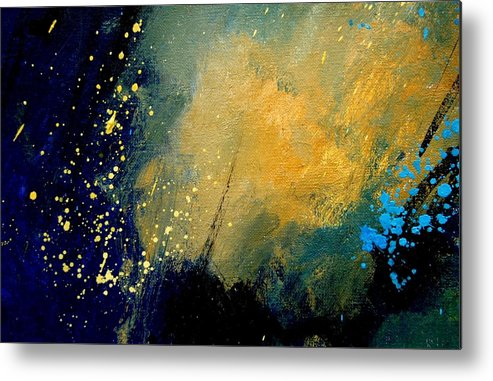 Abstract Metal Print featuring the painting Abstract 061 by Pol Ledent