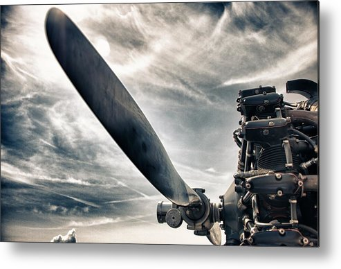 Airplane Metal Print featuring the photograph Aero Machine by Nathan Larson