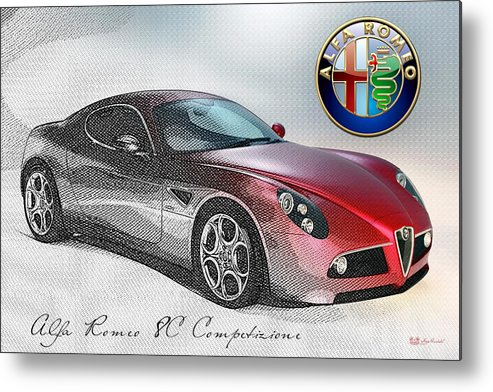 Wheels Of Fortune By Serge Averbukh Metal Print featuring the photograph Alfa Romeo 8C Competizione by Serge Averbukh