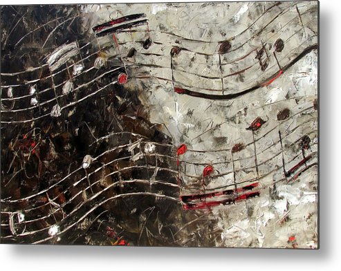 Bach Invention Metal Print featuring the painting Bach Invention 13 by Debra Hurd