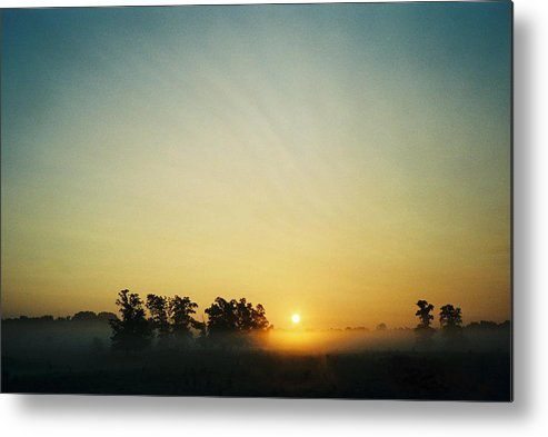 Landscape Metal Print featuring the photograph Blackford County Morning by Gene Linder