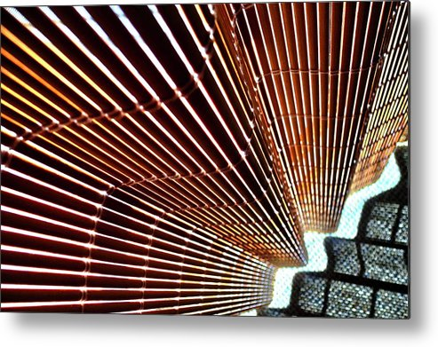 Blind Metal Print featuring the photograph Blind Shadows Abstract I I by Kirsten Giving