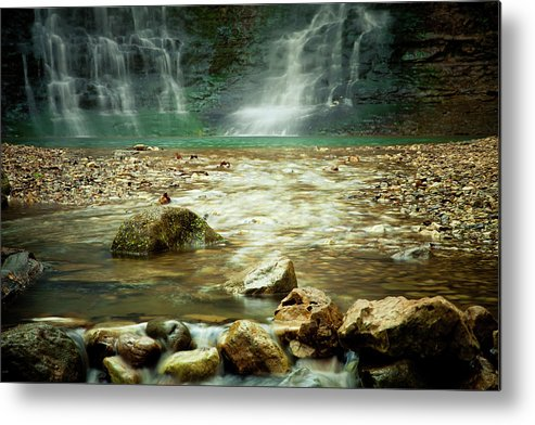 Landscape Metal Print featuring the photograph Break of Silence by Iris Greenwell