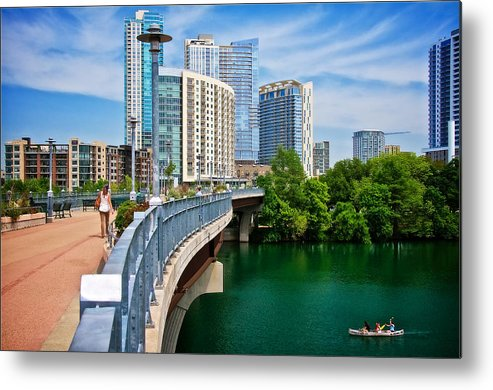 Austin Metal Print featuring the photograph Bridge With A View by Zayne Diamond Photographic