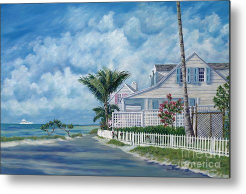 Harbor Island Metal Print featuring the painting Briland Breeze by Danielle Perry
