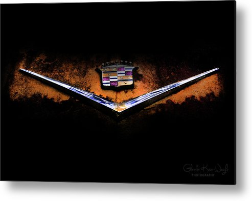 Vintage Car Metal Print featuring the photograph Cadillac Emblem by Glenda Wright
