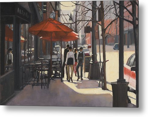 Denver Metal Print featuring the painting Cafe Lodo by Tate Hamilton