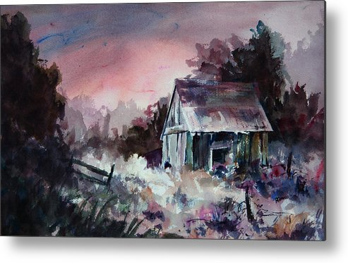 Shack Metal Print featuring the painting Candy Cane by William Russell Nowicki