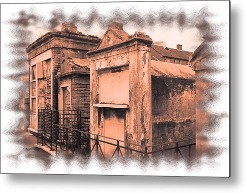 New Orleans Metal Print featuring the photograph Cemetary Row by Linda Kish