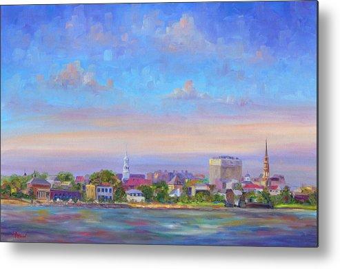 Charleston Metal Print featuring the painting Charleston Skyline by Jeff Pittman