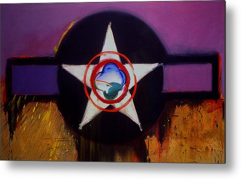 Air Force Insignia Metal Print featuring the painting Cheyenne Autumn by Charles Stuart