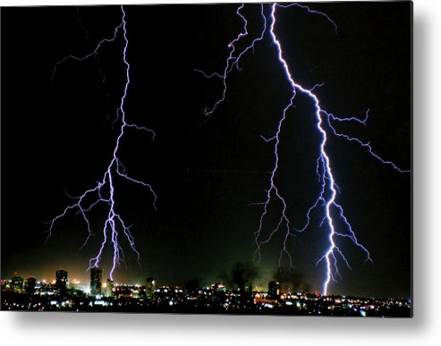 Arizona Metal Print featuring the photograph City Lights by Cathy Franklin